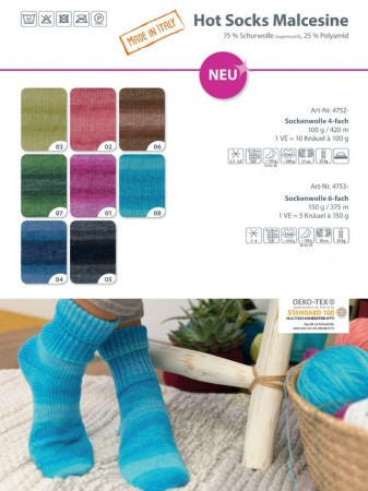 Hot Socks Malcecine 4-tråds